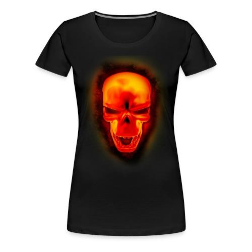 Skull on fire - women T  - Women's Premium T-Shirt