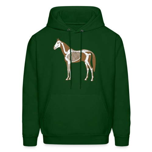 Horse Skeleton Anatomy Mens Hood - Men's Hoodie