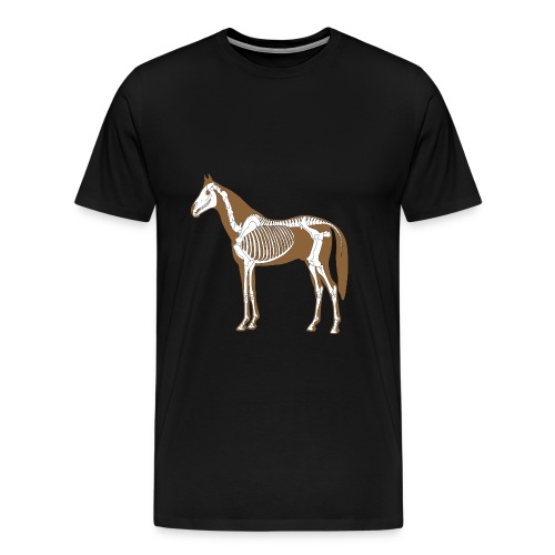 Horse Skeleton Anatomy Mens - Men's Premium T-Shirt