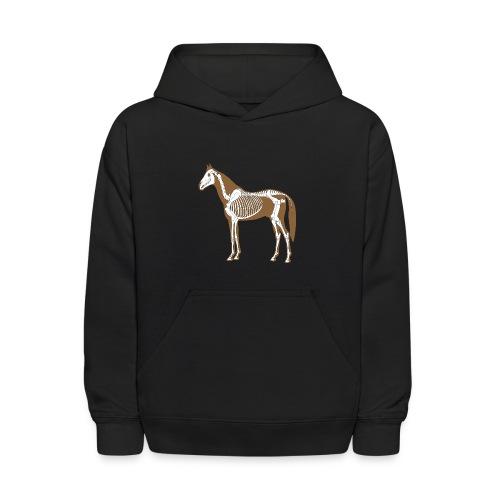 Horse Skeleton Anatomy Kids Hood - Kids' Hoodie
