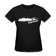 T-Shirts ~ Women's T-Shirt ~ Long Island Represent