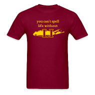 T-Shirts ~ Men's T-Shirt ~ You can't spell life without LI
