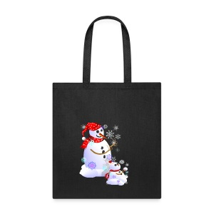 Daddy and Baby Snow - Tote Bag