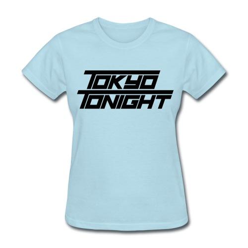 Tokyo Tonight FONT  T for Ladies - Women's T-Shirt