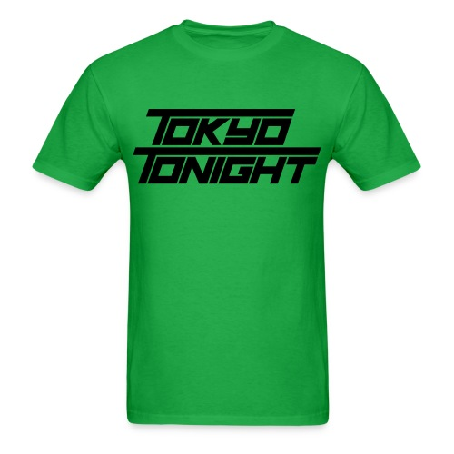 Tokyo Tonight FONT T for Dudes - Men's T-Shirt