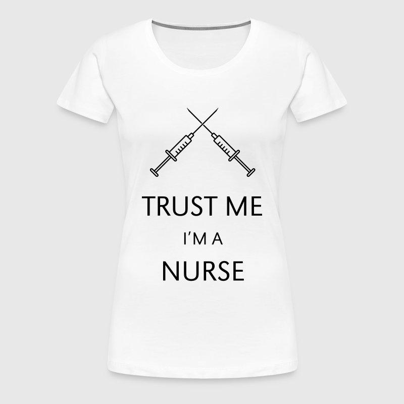 Trust me i 39 m a nurse t shirt spreadshirt for I am a nurse t shirt