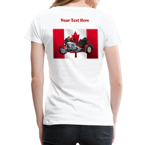 Ladies Premium T  Back CaFlagWingtrike Custom - Women's Premium T-Shirt