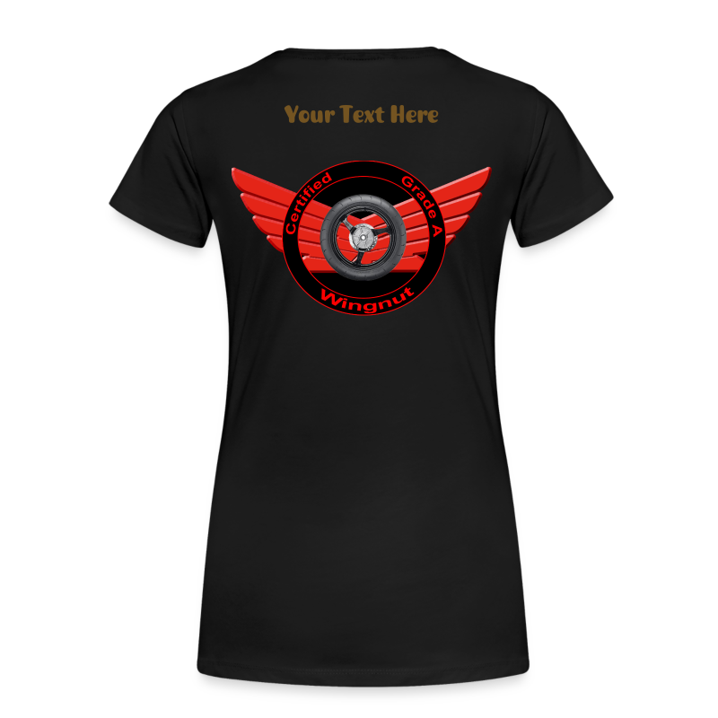 Ladies Premium T Back WingNut Custom - Women's Premium T-Shirt