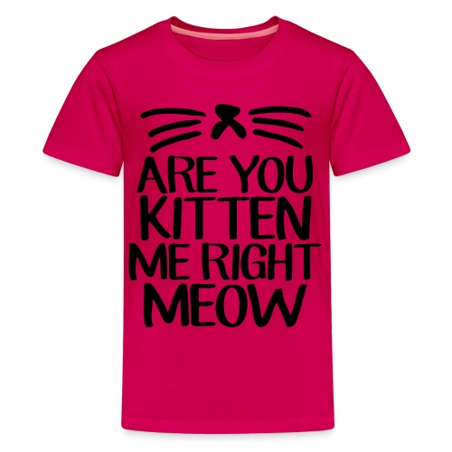 are you kitten me right now tee - Kids' Premium T-Shirt