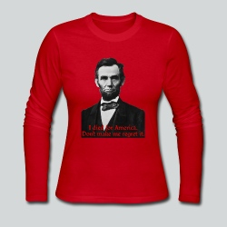 Abraham Lincoln's American Pride - Women's Long Sleeve Jersey T-Shirt