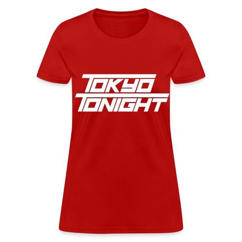 Tokyo Tonight Lady's T-shirt (light font) - Women's T-Shirt