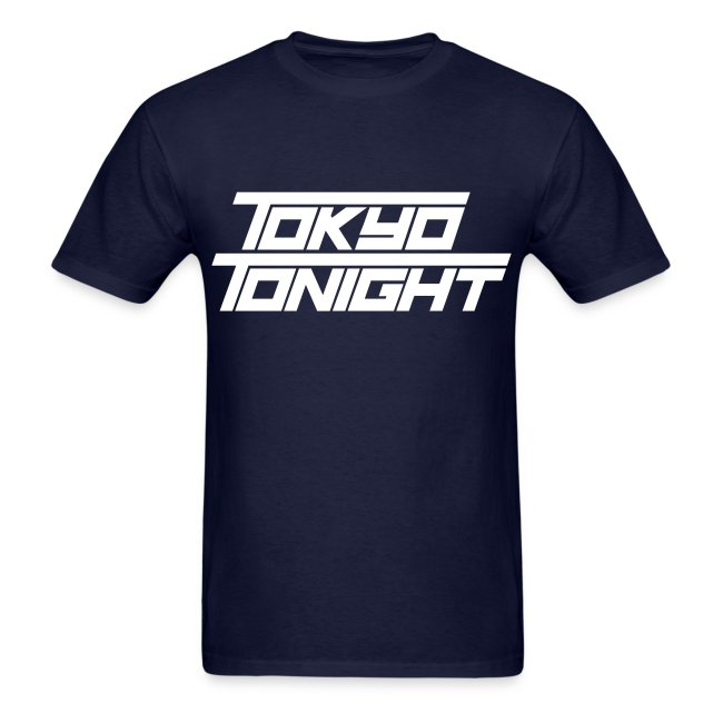 Tokyo Tonight Men's T-shirt (light font)