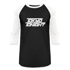 Tokyo Tonight FONT Men's Baseball 3/4 Sleeve  - Baseball T-Shirt