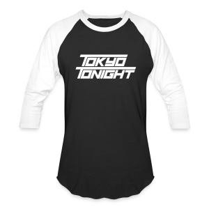 Tokyo Tonight FONT Men's Baseball 3/4 Sleeve  - Baseball T-Shirt