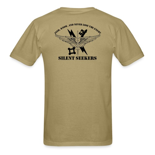 Tan Tshirt with logo - Men's T-Shirt