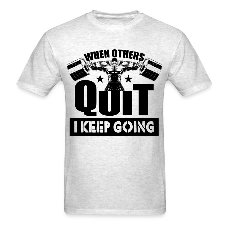 Quit gym quotes sports t shirt spreadshirt for Design your own workout shirt