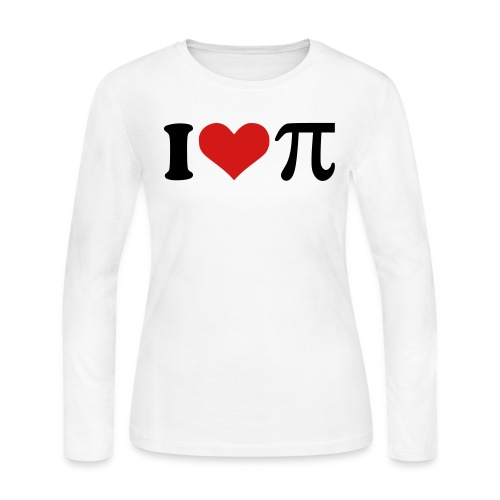 I love Pie (front)/Pull Me Back Online - Women's Long Sleeve Jersey T-Shirt