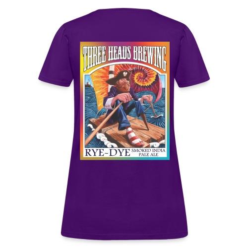 Rye Dye Smoked IPA - White Logo - Women's T-Shirt