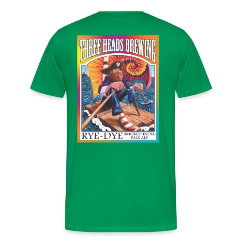 Rye Dye Smoked IPA - Black Logo (Big Sizes) - Men's Premium T-Shirt