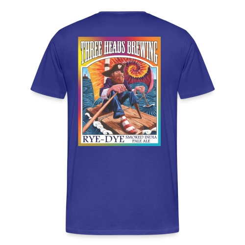 Rye Dye Smoked IPA - White Logo (Big Sizes) - Men's Premium T-Shirt