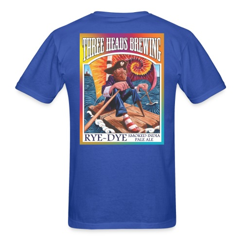 Rye Dye Smoked IPA - White Logo - Men's T-Shirt