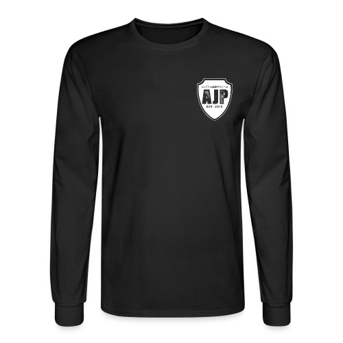 AJP Men's Long Sleeve T-Shirt White Logo - Men's Long Sleeve T-Shirt