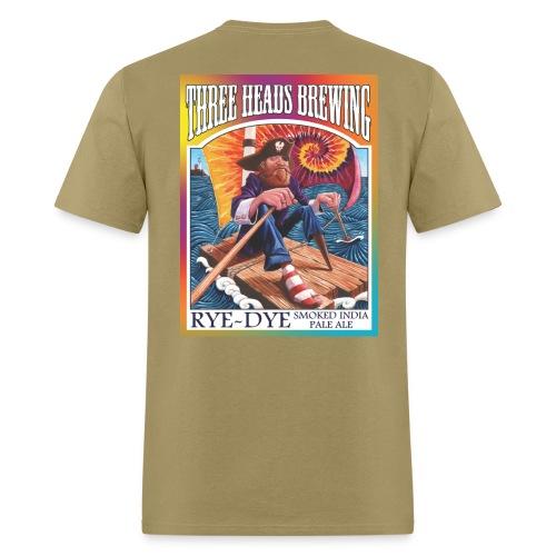Rye Dye Smoked IPA - Black Logo - Men's T-Shirt
