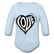 Baby Bodysuits ~ Baby Long Sleeve One Piece ~ Love Makes a Family - One Piece