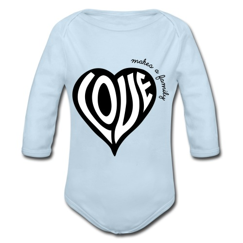 Love Makes a Family - One Piece - Organic Long Sleeve Baby Bodysuit