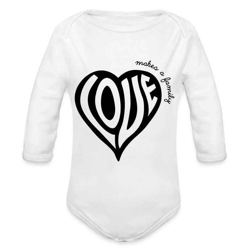Love Makes a Family - One Piece - Long Sleeve Baby Bodysuit