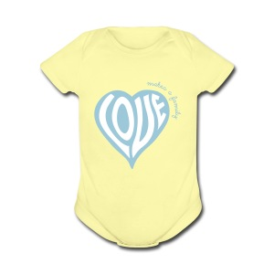 Love Makes a Family - One Piece - Short Sleeve Baby Bodysuit