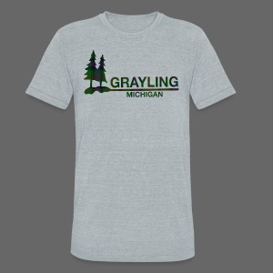 Grayling Michigan - Unisex Tri-Blend T-Shirt by American Apparel