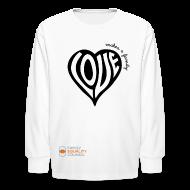 Kids' Shirts ~ Kids' Long Sleeve T-Shirt ~ Love Makes a Family Long Sleeve