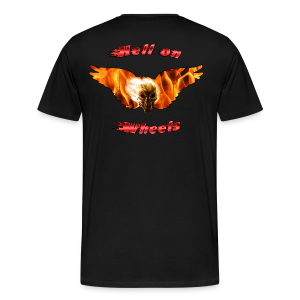 Mens Premium T Hell on Wheels (Back) - Men's Premium T-Shirt
