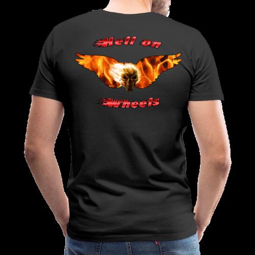 Mens Premium T Hell on Wheels (Back) - Men's Premium T-Shirt