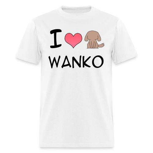 I love Wanko for men - Men's T-Shirt