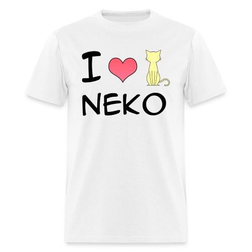 I love Neko for men - Men's T-Shirt
