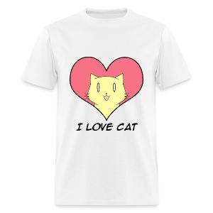 I Love Cat for Men - Men's T-Shirt