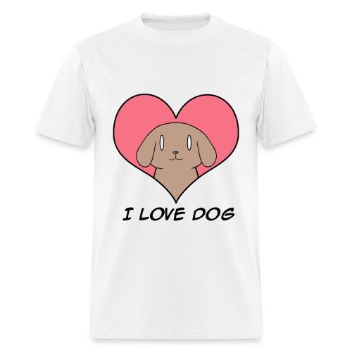 I Love Dog for Men - Men's T-Shirt