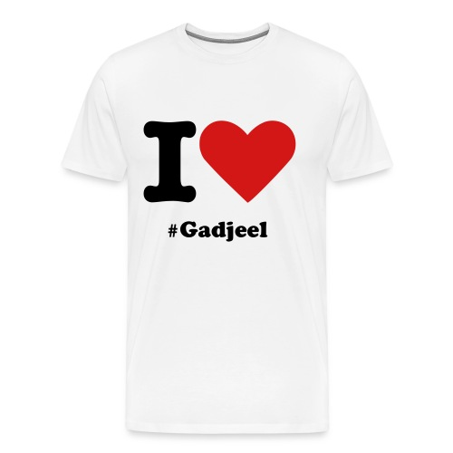 T-shirt I Love #Gadjeel - Men's Premium T-Shirt