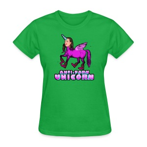 Anti-Porn Unicorn - Women's T-Shirt