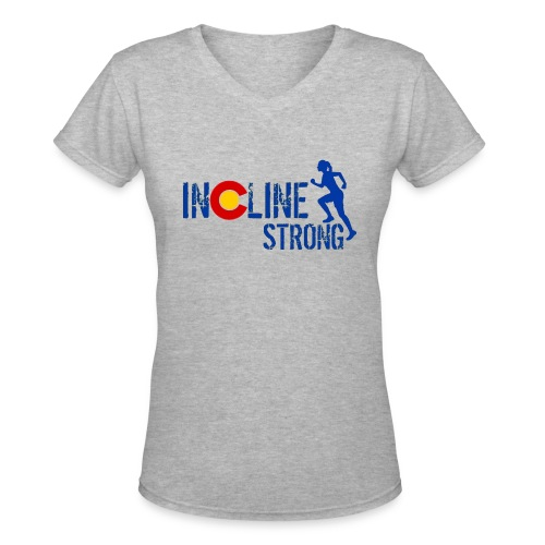 Women's V-Neck T-Shirt - women t-shirts,outdoors,mountains,incline,hiking,colorado