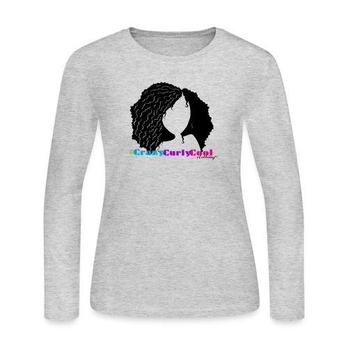 Natural Hair: CrazyCurlyCool Tee - Women's Long Sleeve Jersey T-Shirt