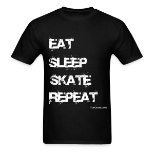 Eat Sleep Skate Repeat wb TD - TD-00023a1 - Men's T-Shirt