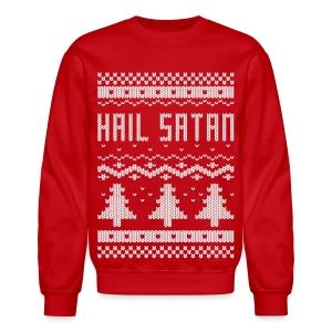 Ugly Hail Satan Christmas Sweater - Crewneck Sweatshirt