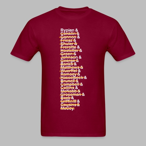 Washington Franchise QBs - Pessimist - Men's T-Shirt