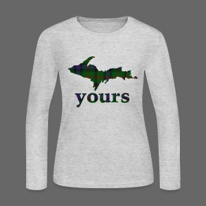 Up Yours Plaid - Women's Long Sleeve Jersey T-Shirt