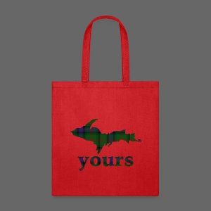 Up Yours Plaid - Tote Bag