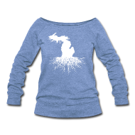 Long Sleeve Shirts ~ Women's Wideneck Sweatshirt ~ Michigan Roots