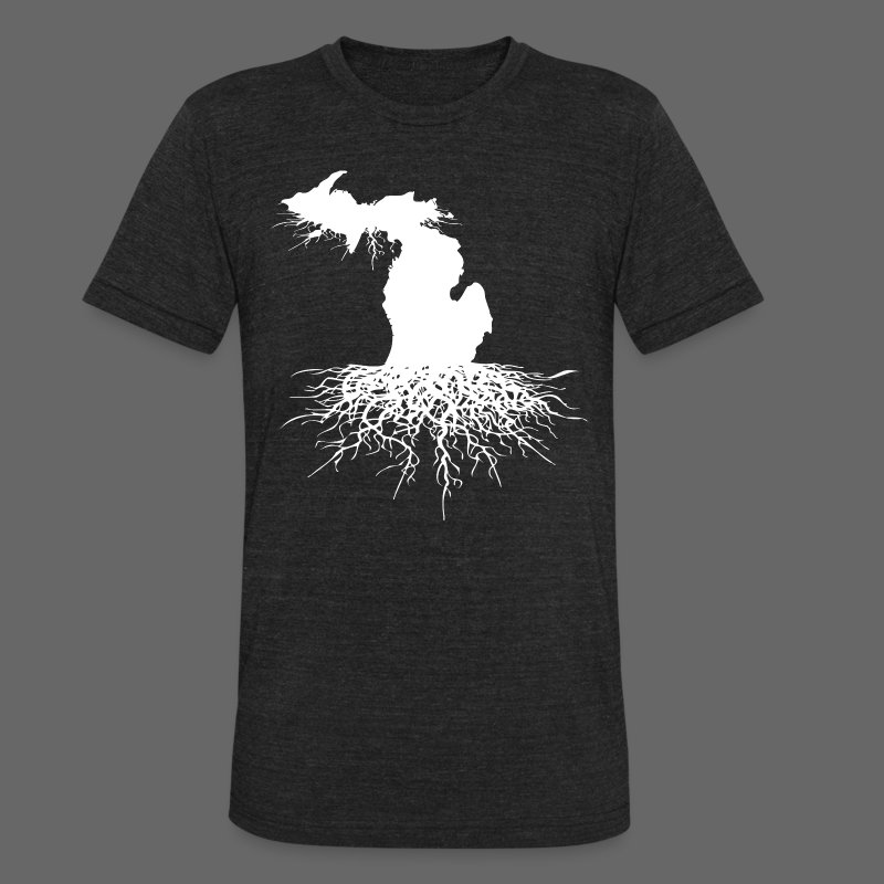 Michigan Roots - Unisex Tri-Blend T-Shirt by American Apparel